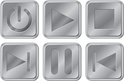 Buttons for media player Royalty Free Stock Photography