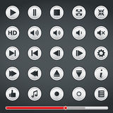 Buttons for Media Player Stock Image
