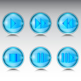 Buttons for media player Royalty Free Stock Images