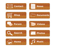 Buttons for menu website Royalty Free Stock Photography