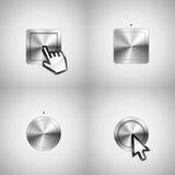 buttons metalliskt Royaltyfri Bild