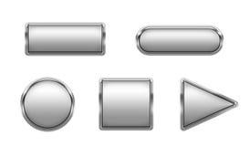 buttons metalliskt Vektor Illustrationer