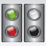 buttons metallplattan stock illustrationer