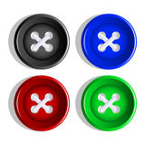 Buttons. Stock Photography