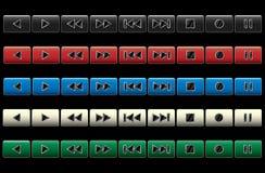 buttons multimedianavigering Royaltyfri Foto
