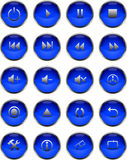buttons multimedior Arkivbild