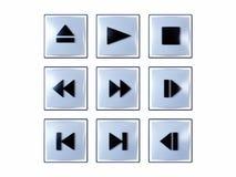 buttons multimedior Royaltyfri Bild