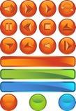 buttons multimedior runda vektor illustrationer
