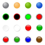 Buttons - multiple styles Stock Image