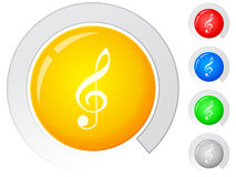 Buttons music Stock Images