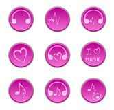 Buttons music Royalty Free Stock Photography
