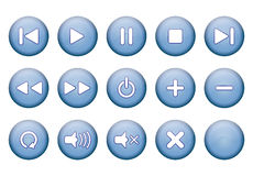 Buttons for music player Stock Image