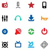 Buttons for music and sound Royalty Free Stock Photography