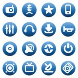 Buttons for music and sound Royalty Free Stock Image