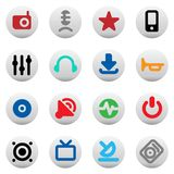 Buttons for music and sound Stock Photography