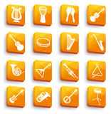 Buttons of musical instruments Royalty Free Stock Image