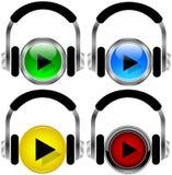 buttons musik Arkivfoton