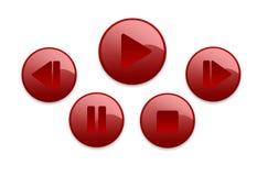 buttons musik Royaltyfri Foto