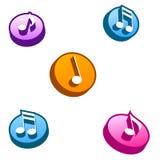 buttons musik royaltyfri illustrationer