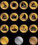 buttons nautisk skyddsremsarengöringsduk royaltyfri illustrationer