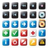 buttons navigering Arkivbild