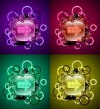 buttons navigering för symboler för elementgrungegui Arkivfoto