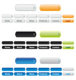 buttons navigeringwebsite Royaltyfria Foton