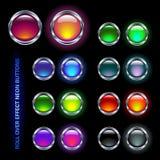 buttons neon Arkivfoto
