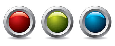 Buttons with nets Stock Images