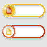 Buttons with note icon Royalty Free Stock Photo