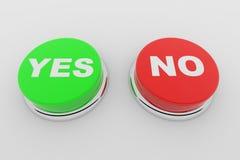 buttons nr. två ja Royaltyfri Foto