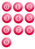 Buttons with numbers Stock Photography