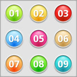 Buttons with numbers Royalty Free Stock Photo