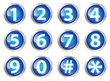 Buttons with numbers Stock Photos