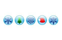 buttons nytt år Arkivfoton