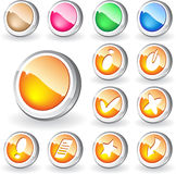 buttons nytt Royaltyfria Foton