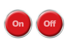 Buttons On Off Stock Photography