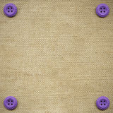 Buttons On Fabric Royalty Free Stock Images
