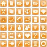 buttons orangen