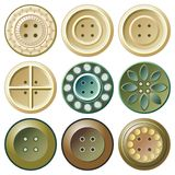 Buttons outlet apparel Stock Images