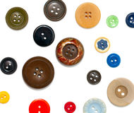Buttons over white Royalty Free Stock Photo