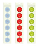 Buttons on packaging. Buttons on a paper backing on a white background vector illustration