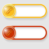 Buttons with paper clip Royalty Free Stock Photos