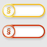 Buttons with paragraph Royalty Free Stock Image