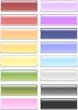 buttons pastellfärgad rektangel rundad royaltyfri foto