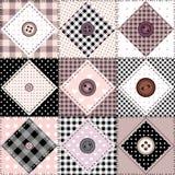 buttons patchworken Arkivfoton