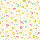 Buttons pattern Stock Image