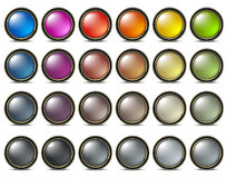 Buttons pearl colored Stock Photography
