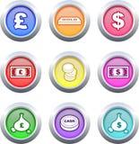 buttons pengar Royaltyfria Bilder