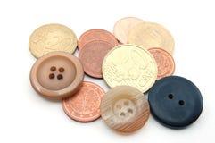 buttons pengar Royaltyfri Foto